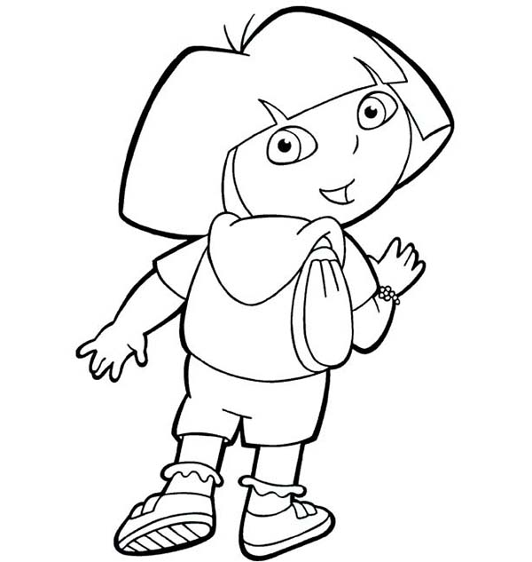 dora backpack coloring page pin on dora the explorer printables coloring backpack coloring dora page
