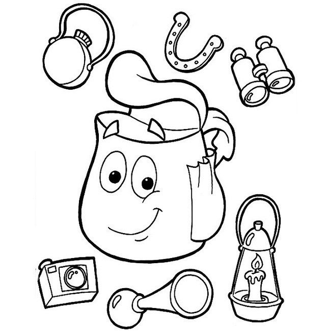 dora backpack coloring page top 10 beautiful and highly detailed backpack dora coloring page dora backpack