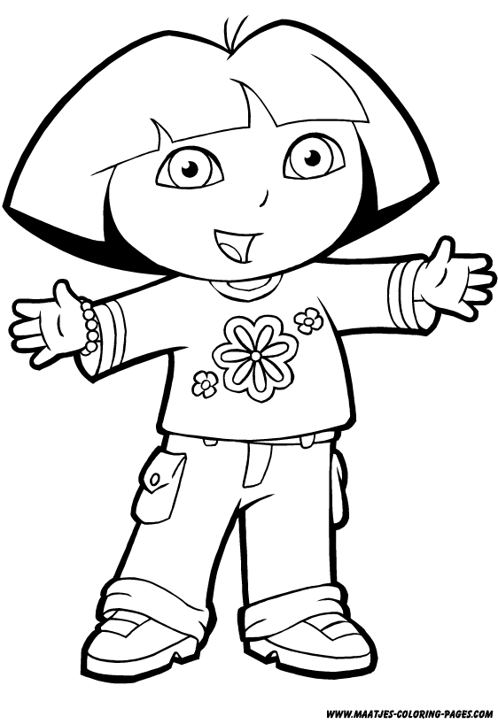 dora coloring dora the explorer coloring pages learny kids dora coloring