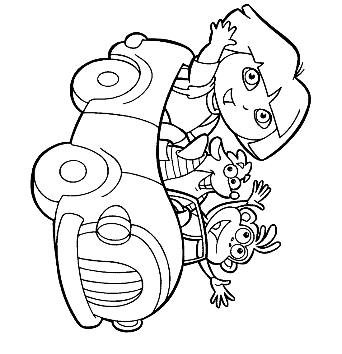 dora colouring pictures coloring blog for kids january 2011 colouring dora pictures
