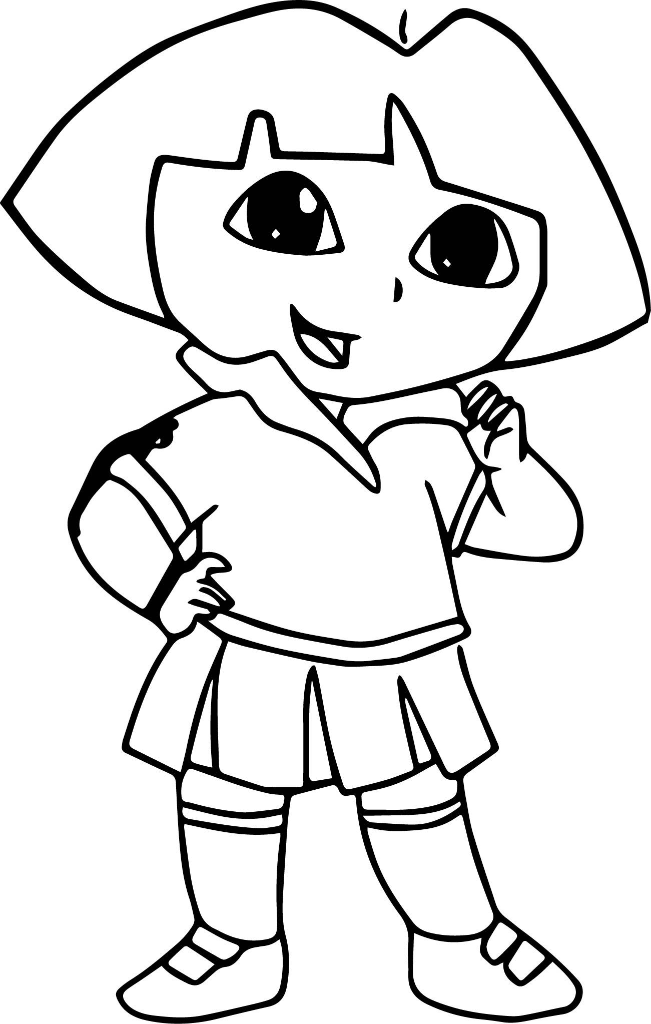 dora drawing pictures dora beach dress coloring page also see the category to pictures drawing dora