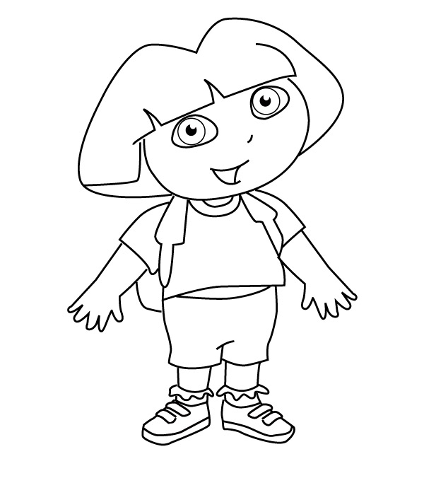 dora drawing pictures dora coloring pages free printables momjunction pictures drawing dora