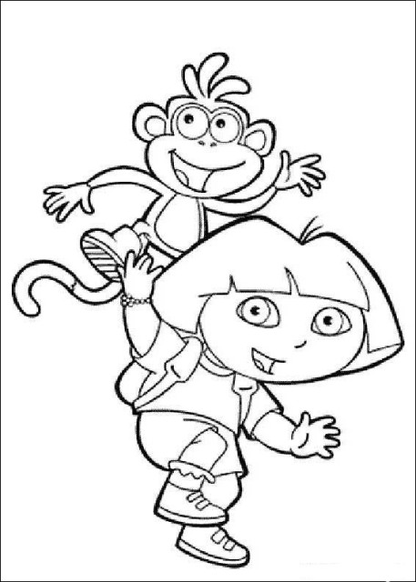 dora painting pictures dora the explorer kids coloring pages free colouring dora painting pictures