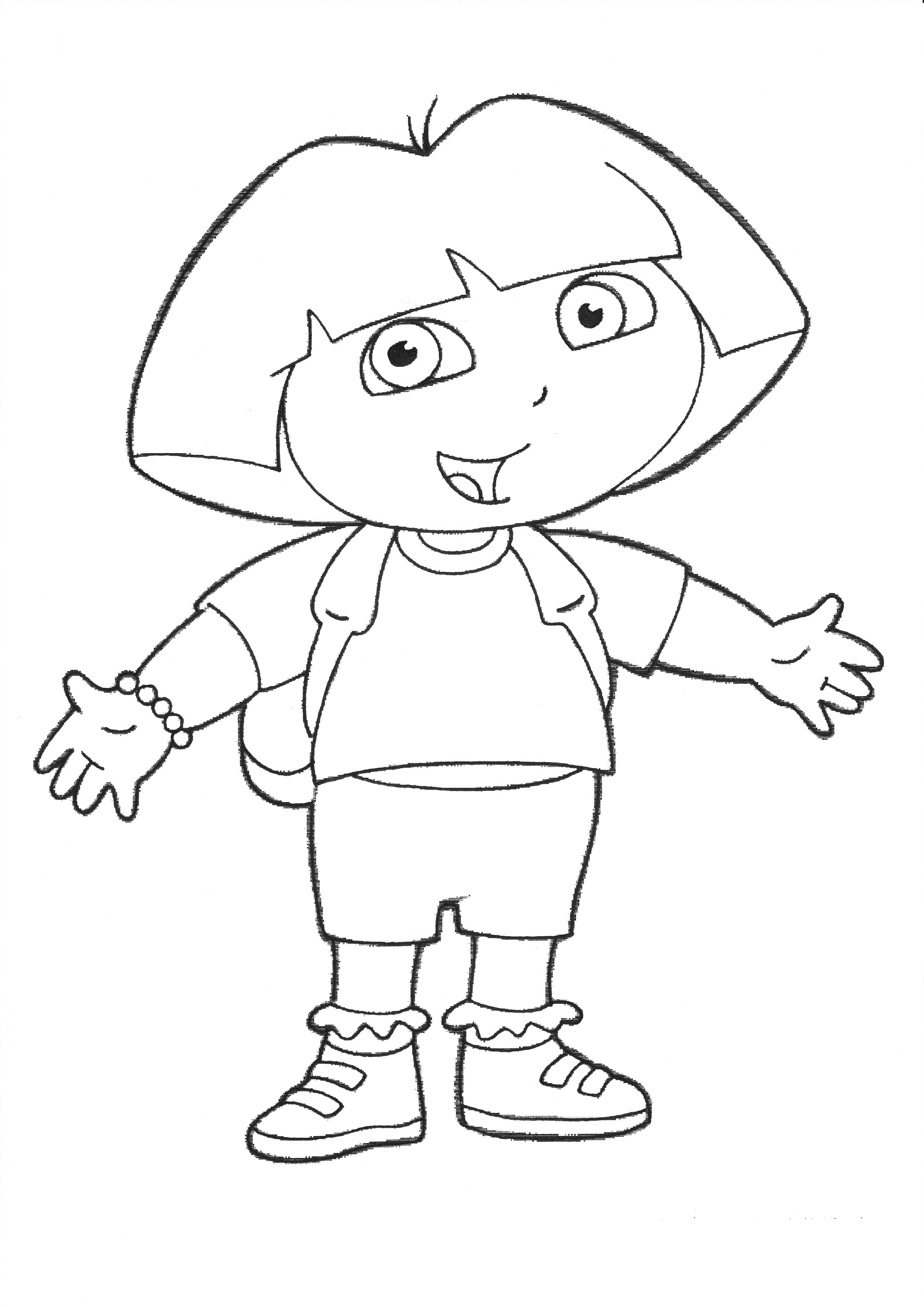 dora pictures to color and print dora coloring pages to print for freegif 9051 200 pixels to and print pictures dora color