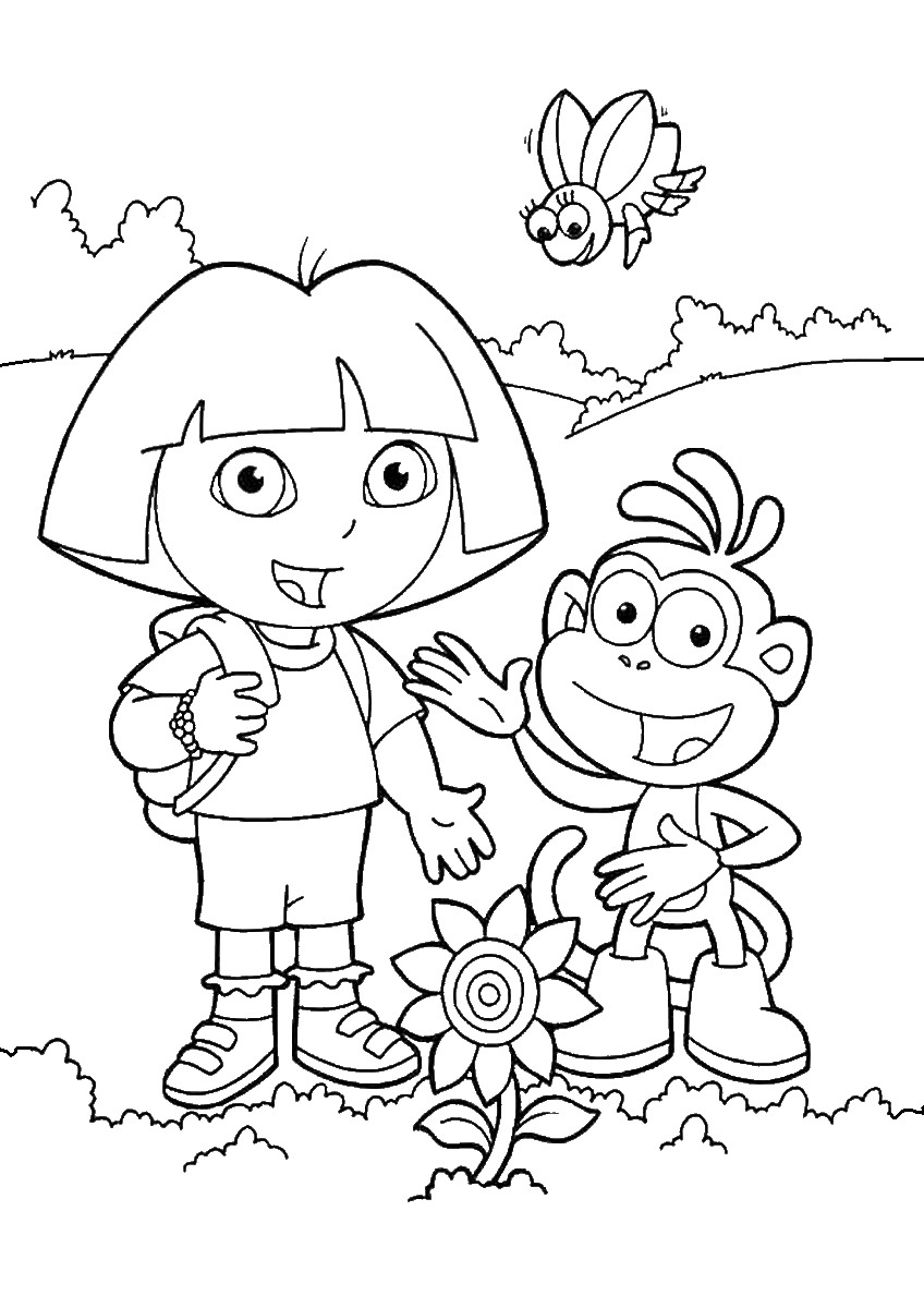 dora pictures to color and print dora the explorer coloring pages pictures dora print to and color
