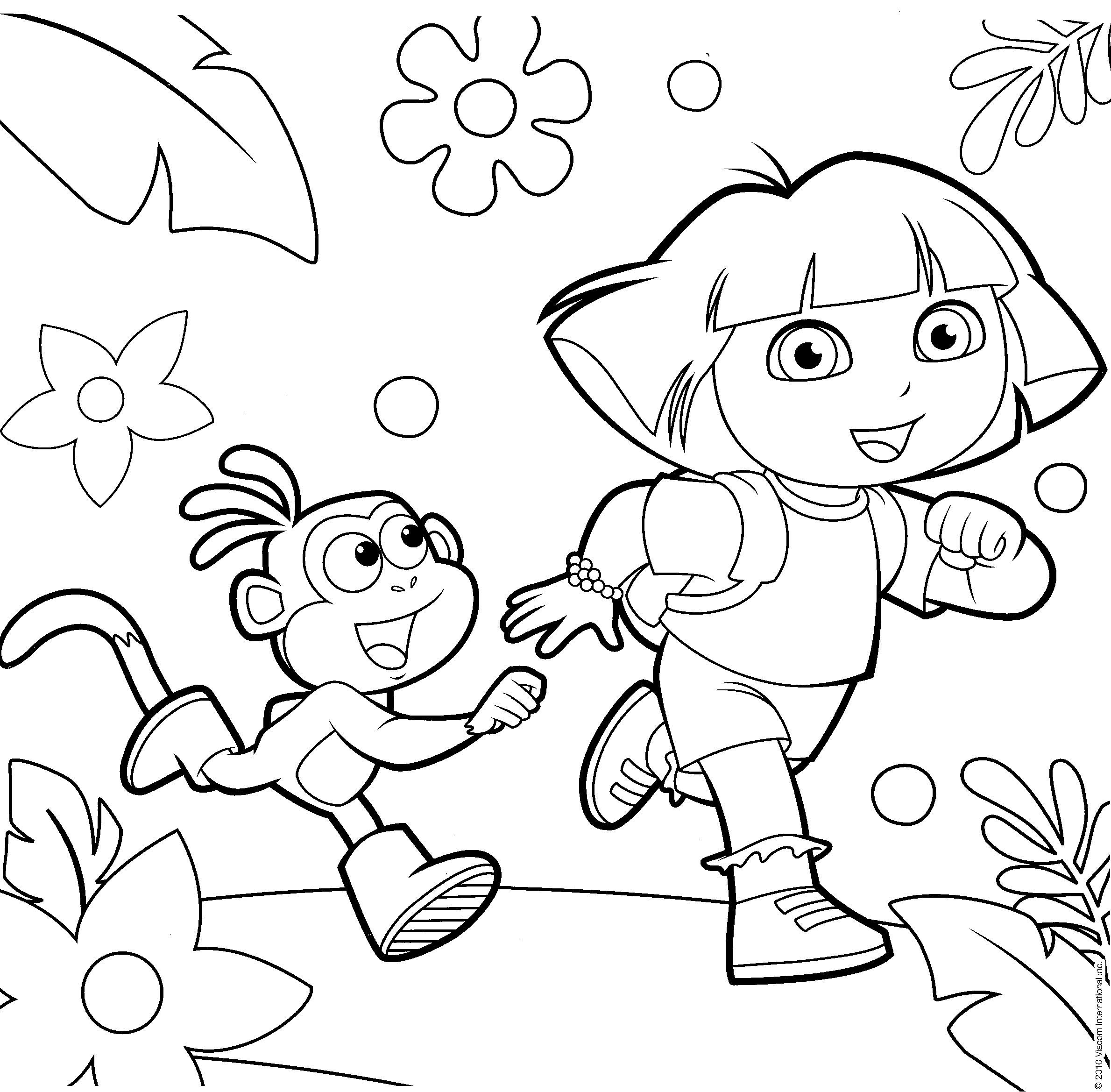 dora pictures to color and print lovely dora printable coloring pages for kids boys and dora to color and print pictures