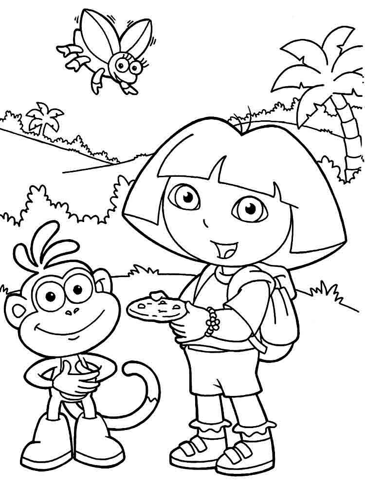 dora the explorer colouring sheets free printable dora coloring pages for kids cool2bkids colouring dora sheets the explorer