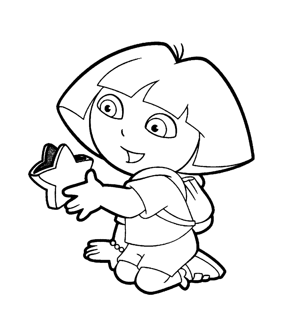 dora to color dora colouring pictures 2 coloring pages to print color to dora