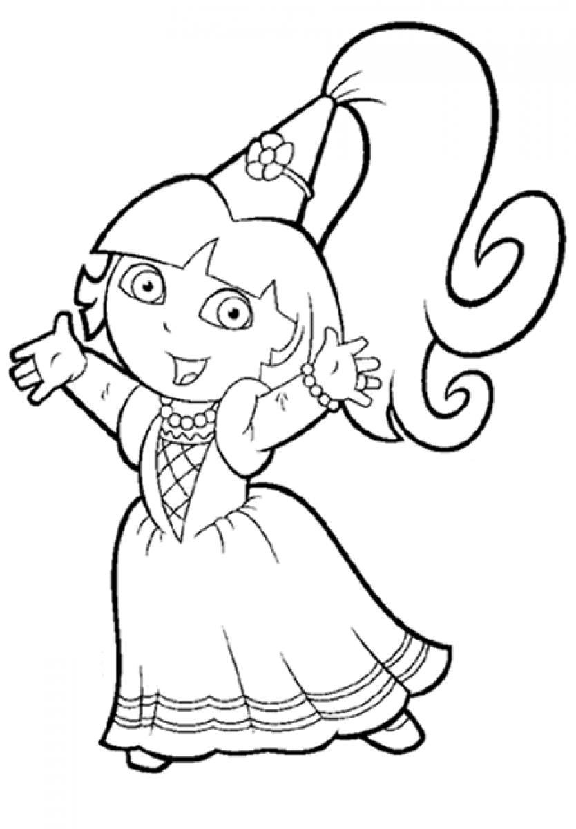 dora to color dora mermaid coloring pages at getdrawings free download to dora color