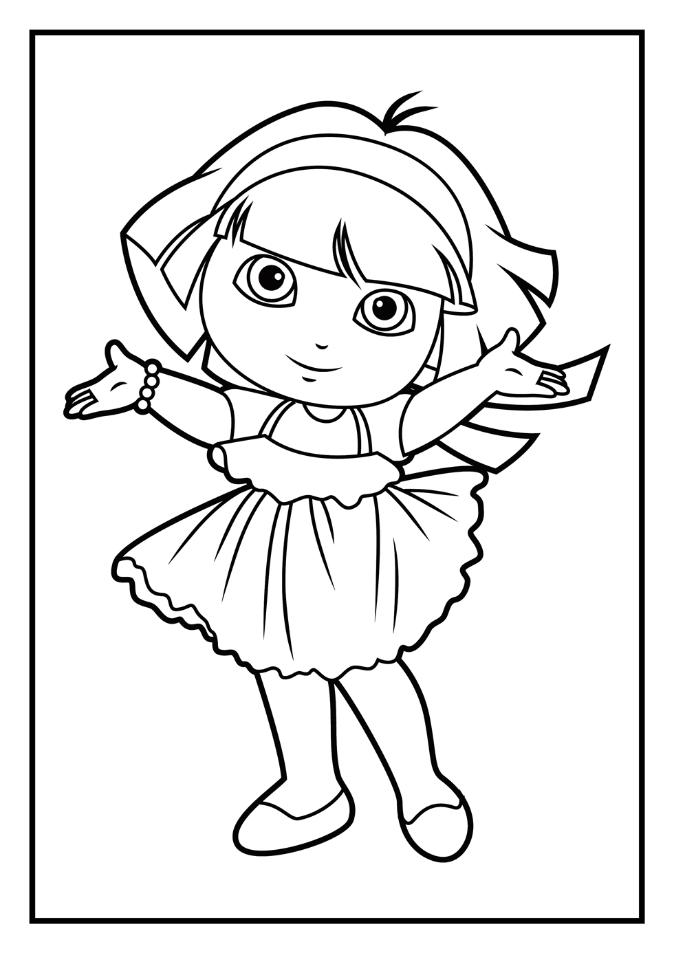 dora to color dora the explorer coloring pages learny kids color to dora