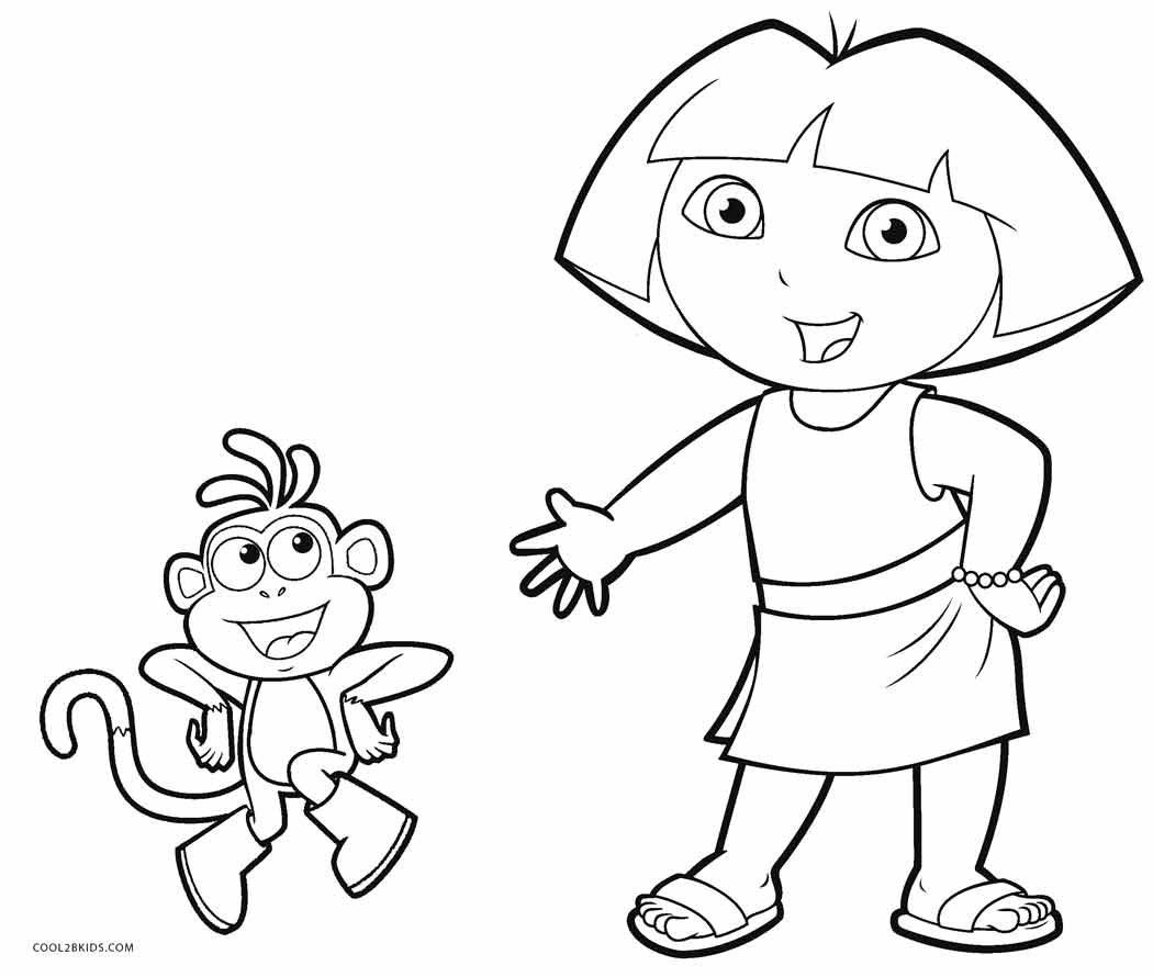 dora to color free printable dora coloring pages for kids color to dora