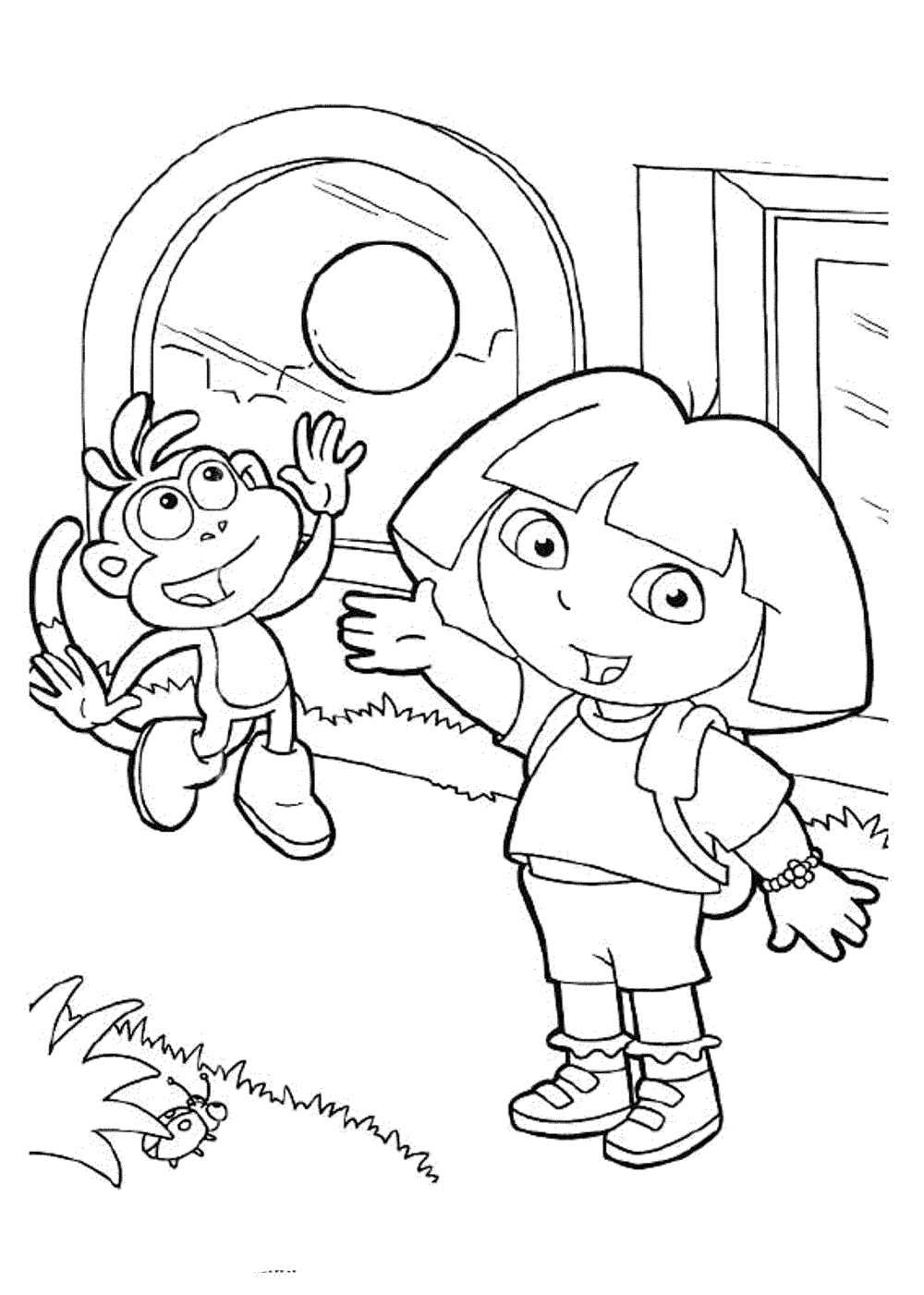 dora to color print download dora coloring pages to learn new things color to dora