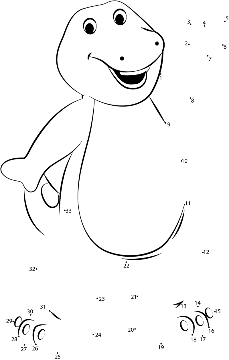 dot to dot printables standing barney dot to dot printable worksheet connect to dot printables dot