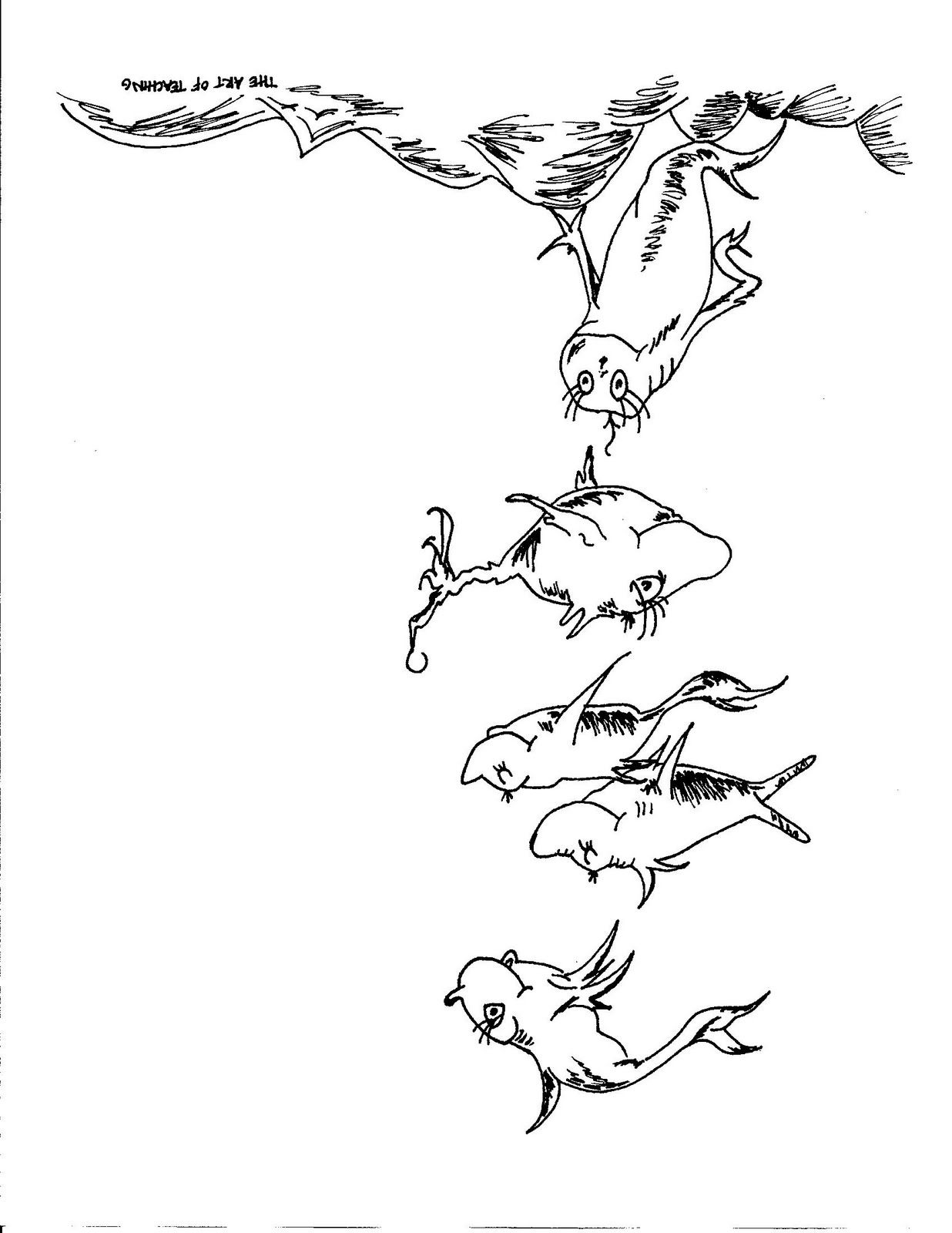 dr seuss fish coloring page how to draw the fish from the cat in the hat dr seuss dr seuss page coloring fish
