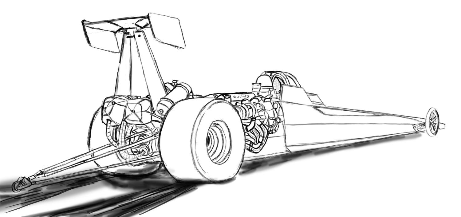 drag car coloring pages drag car sketch at paintingvalleycom explore collection drag coloring pages car