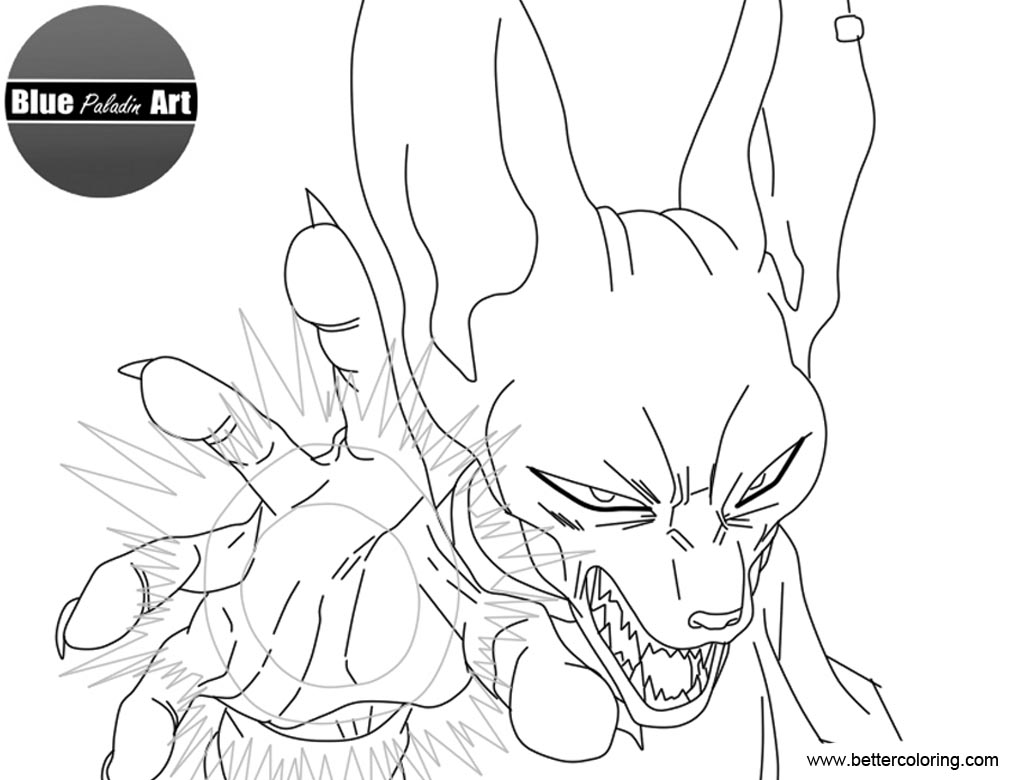 dragon ball z beerus coloring pages beerus dbz coloring pages coloring coloring pages beerus pages ball z dragon coloring