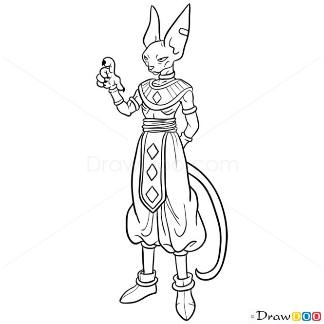 dragon ball z beerus coloring pages beerus from dragon ball super coloring pages by dragon pages coloring beerus z ball
