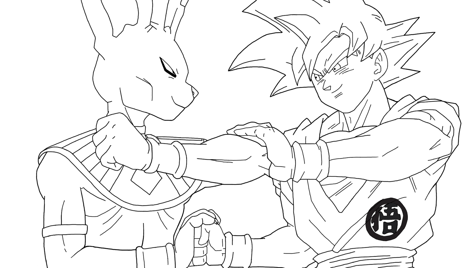 dragon ball z beerus coloring pages beerus from dragon ball super coloring pages by pages dragon z ball coloring beerus