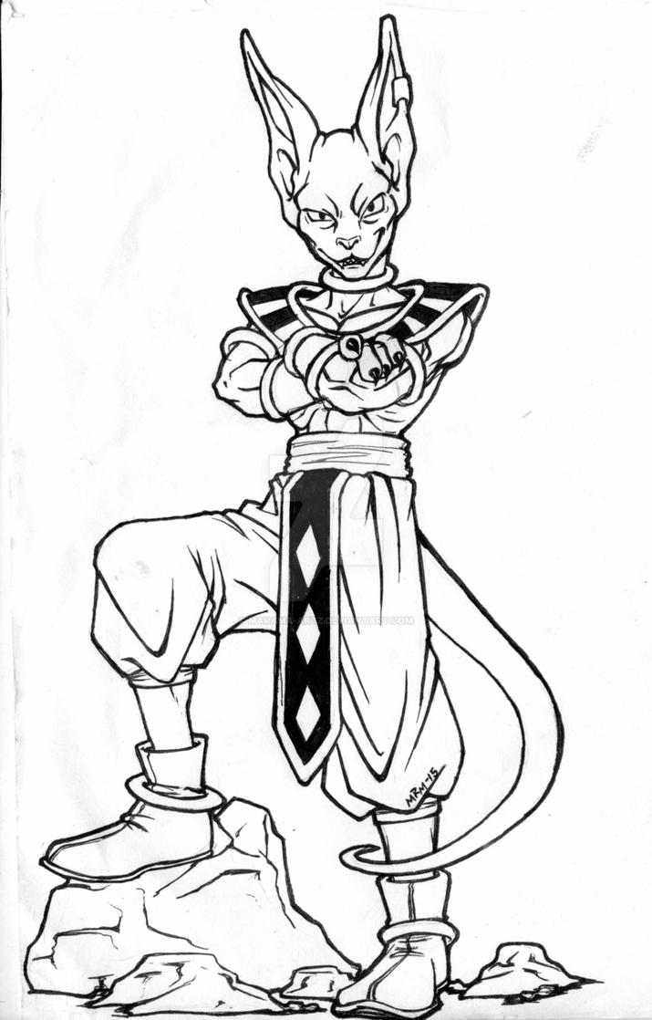 dragon ball z beerus coloring pages beerus from dragon ball super coloring pages by z beerus dragon ball pages coloring