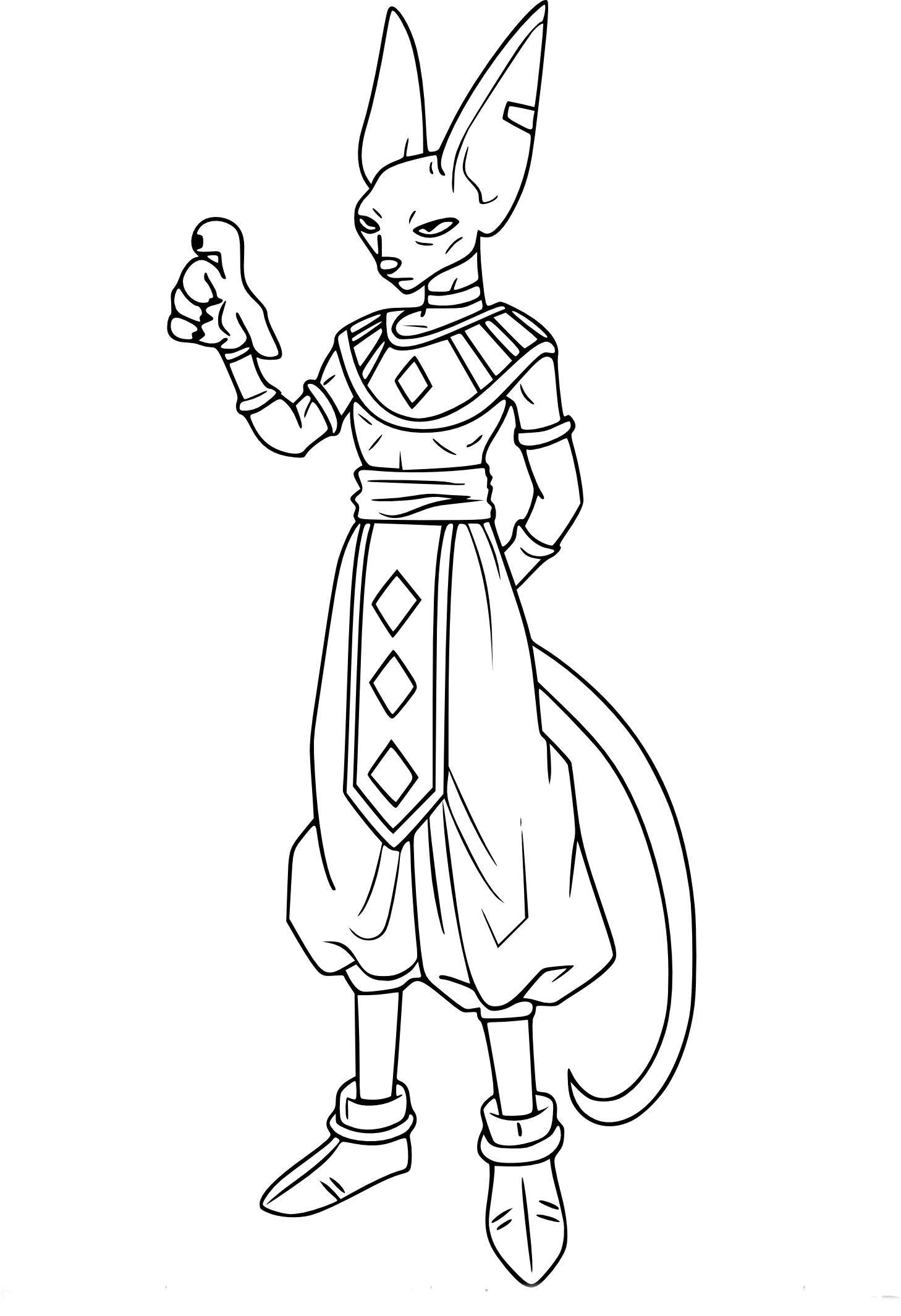 dragon ball z beerus coloring pages lord beerus god of destruction blocking lineart by z ball dragon pages beerus coloring