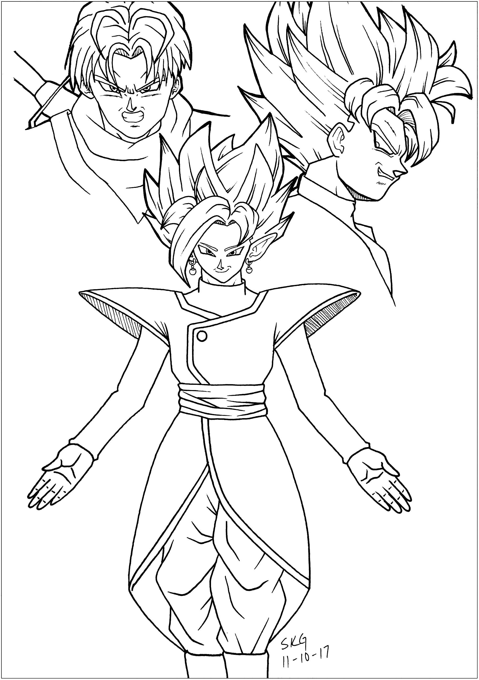 dragon ball z color best goku black coloring pages powell website dragon ball z color