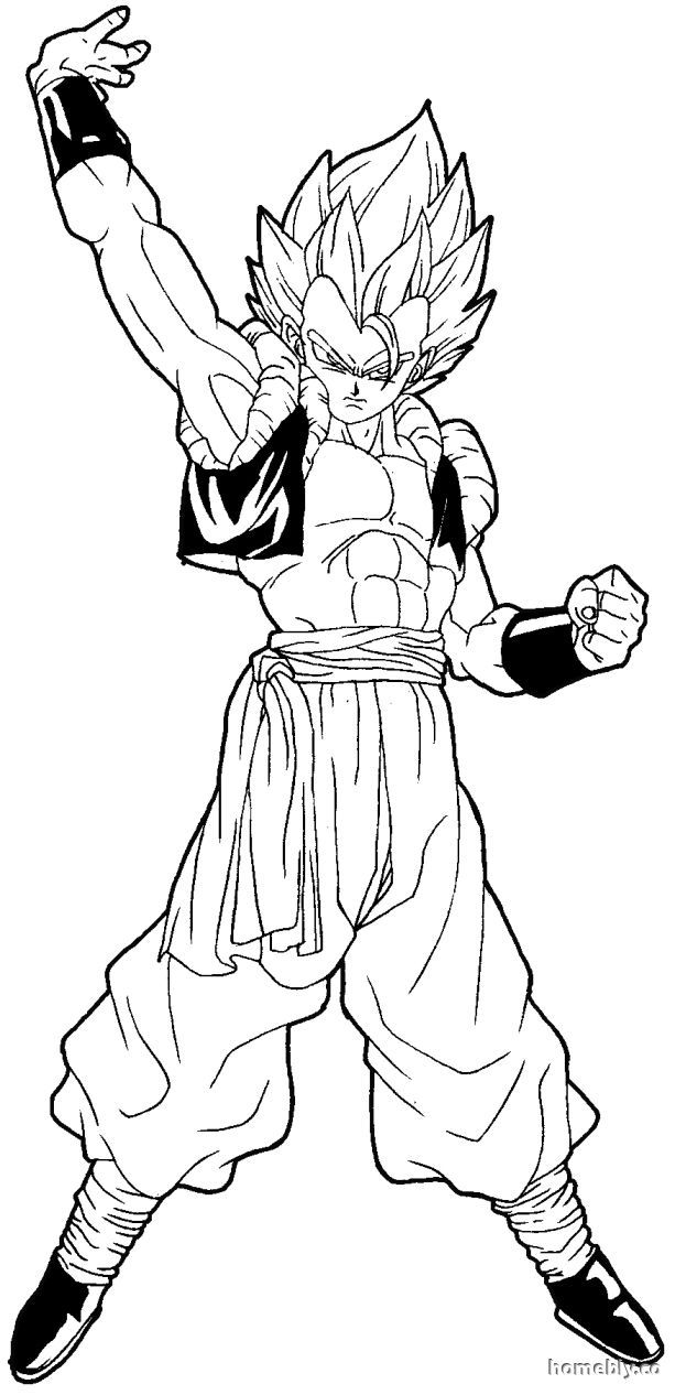 dragon ball z color dbz gogeta coloring pages coloring home ball dragon color z