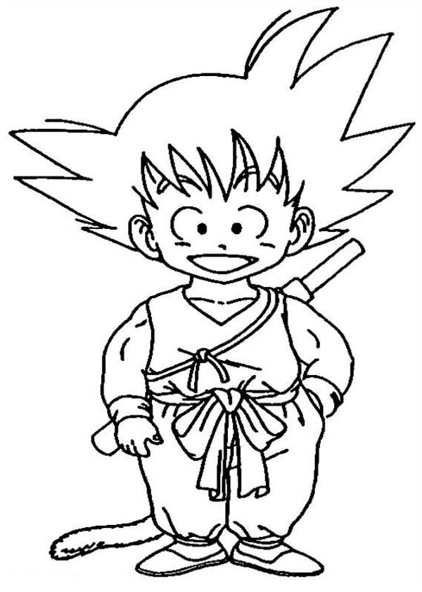 dragon ball z color little goku in dragon ball z coloring page kids play color ball color z dragon
