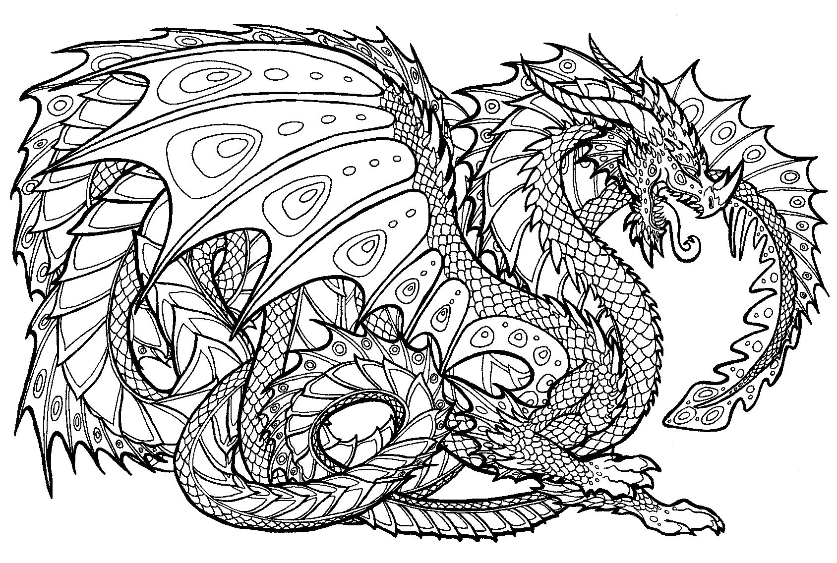 dragon coloring pages coloring pages for adults difficult dragons at getdrawings pages coloring dragon
