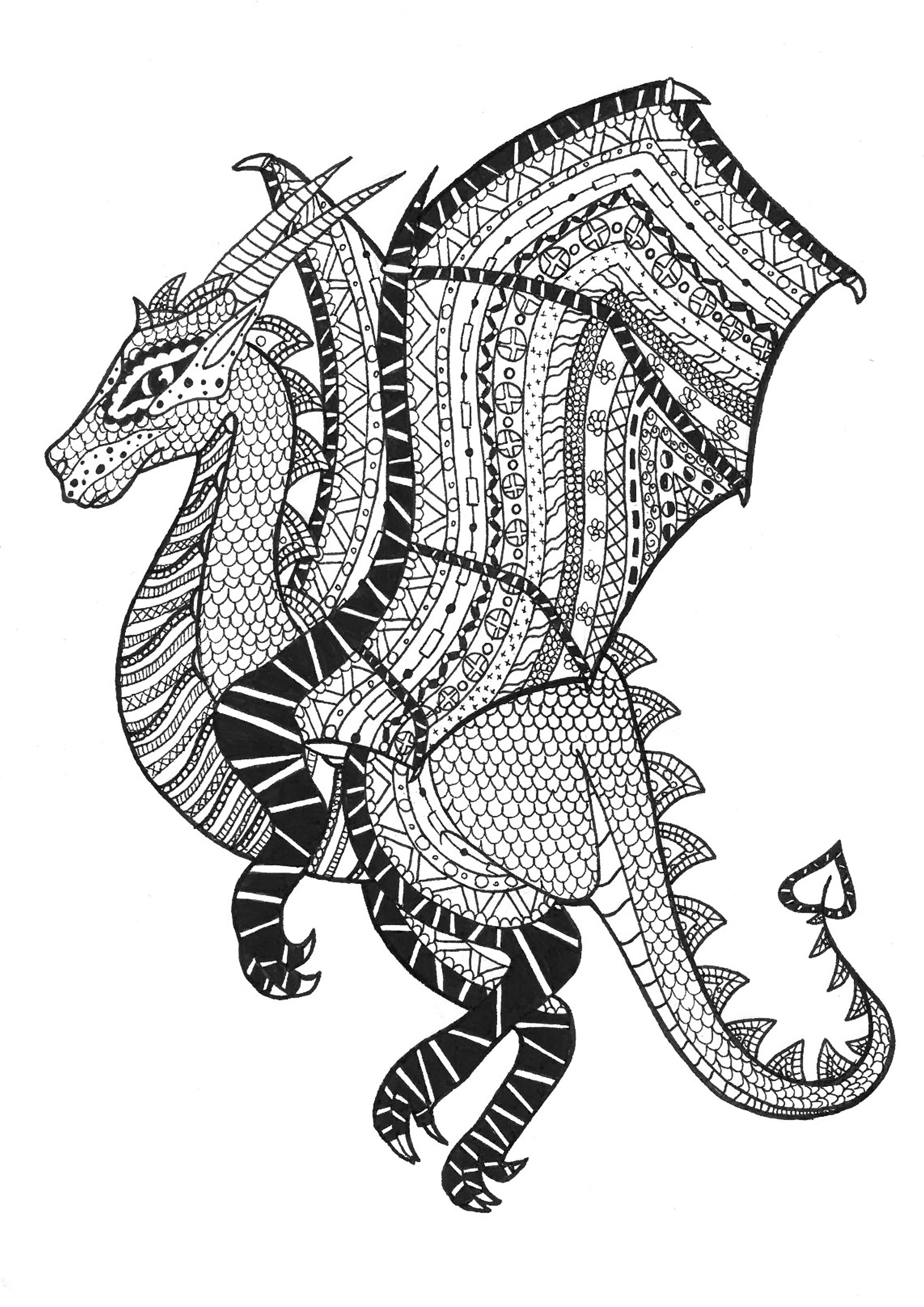 dragon to color dragon coloring pages for adults best coloring pages for to color dragon