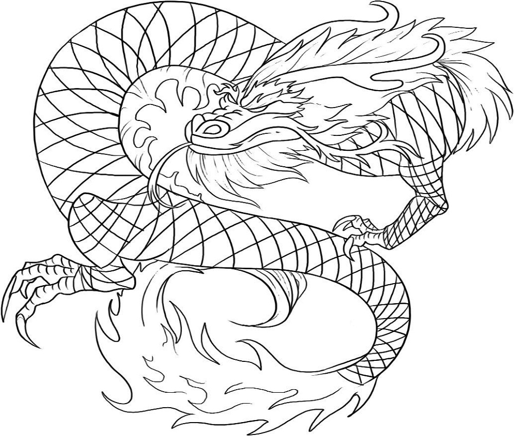 dragon to color free printable chinese dragon coloring pages for kids to dragon color