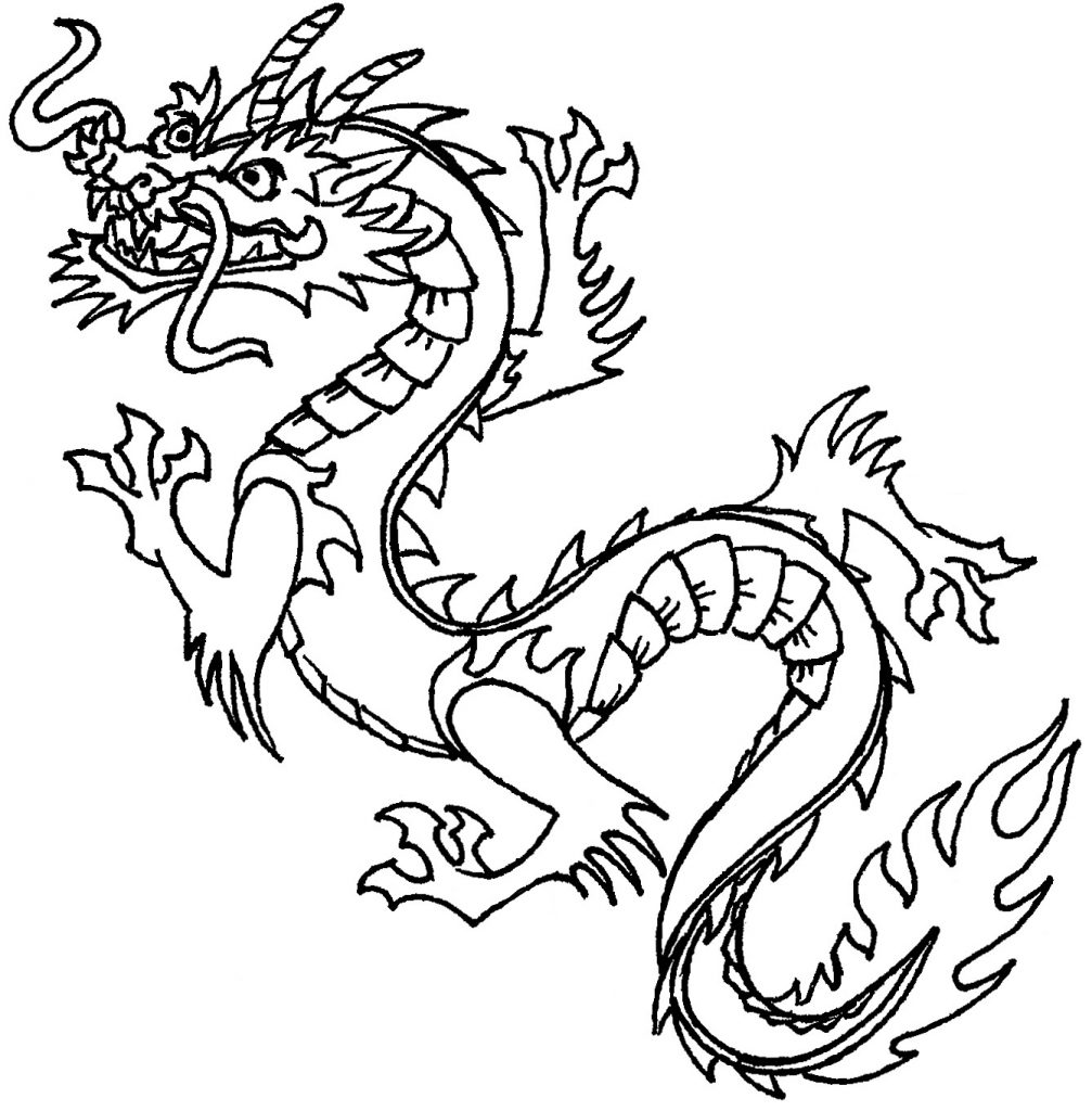 dragon to color free printable chinese dragon coloring pages for kids to dragon color 1 1