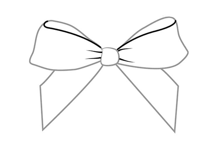 draw a bow how to draw a bow in pencil simple and three options draw a bow