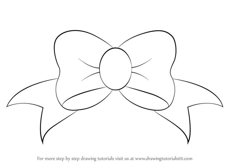 draw a bow learn how to draw a bow everyday objects step by step draw a bow