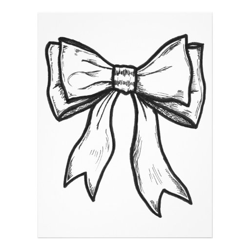 draw a bow ribbon bow black and white drawing letterhead zazzle draw a bow