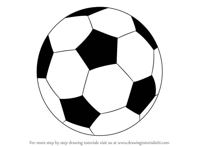 draw a football football drawing easy free download on clipartmag a football draw