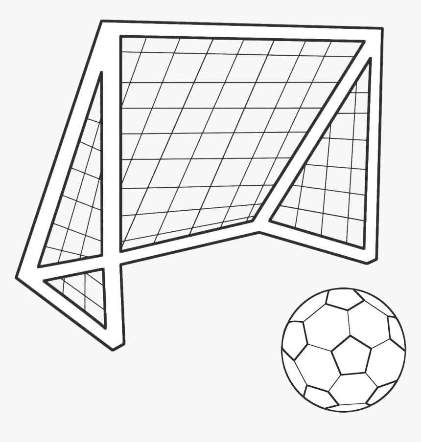 draw a football football goal png soccer goal drawing easy transparent draw football a