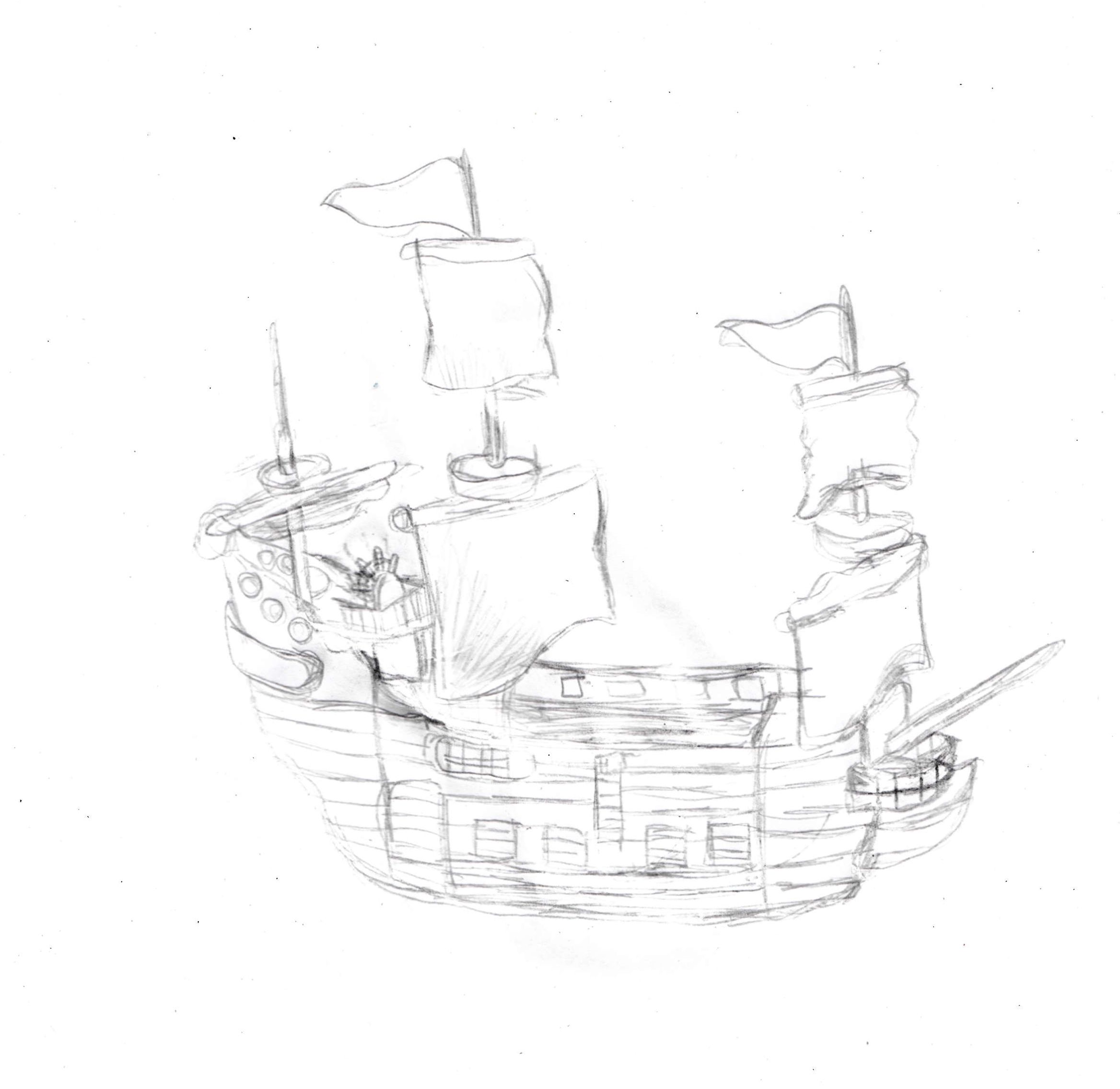 draw a ship step by step a pirate ship illustration on paper drawing tutorials a ship draw step step by