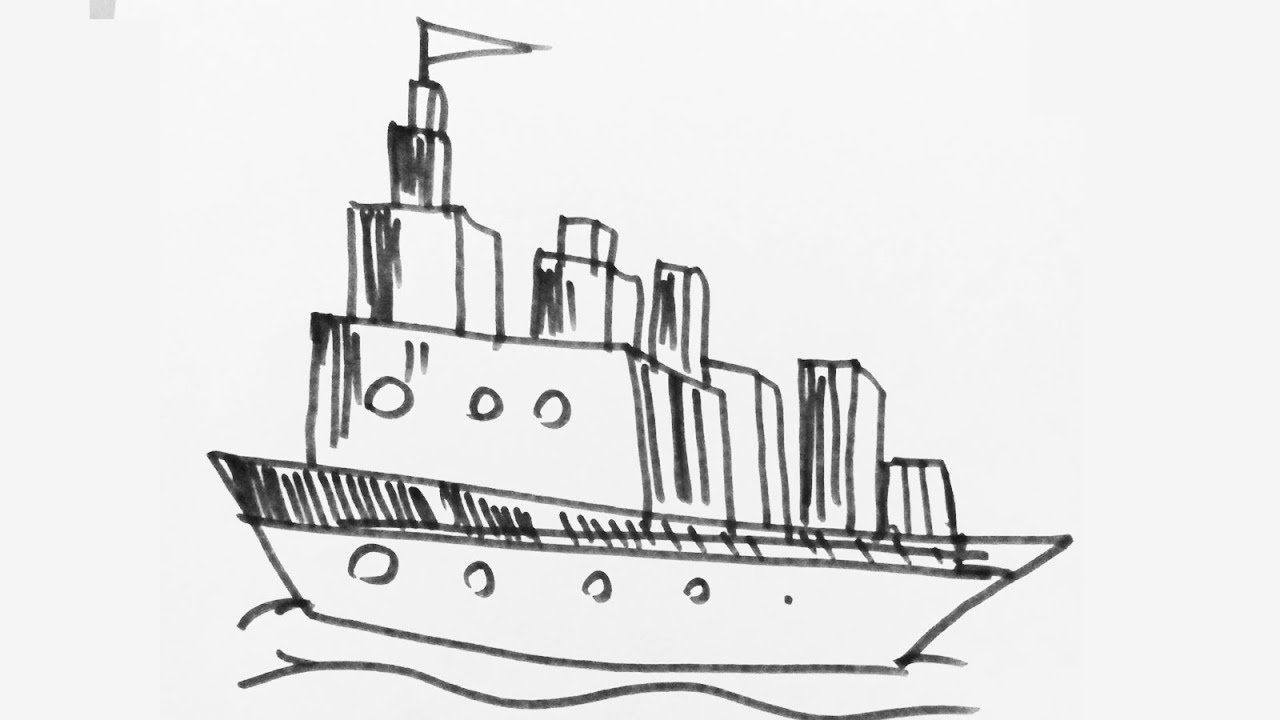 draw a ship step by step how to draw a pirate ship really easy drawing tutorial ship by a step step draw