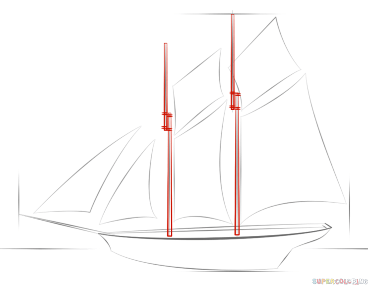 draw a ship step by step how to draw a sailing ship step by step drawing tutorials a draw ship step by step