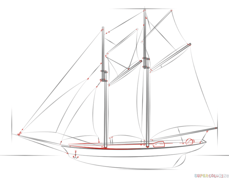 draw a ship step by step how to draw a sailing ship step by step drawing tutorials ship by a step draw step