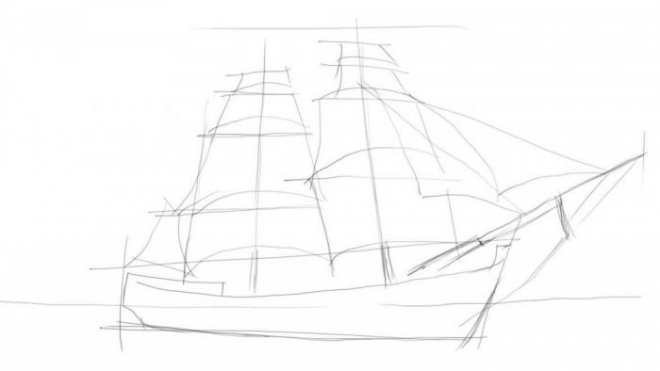 draw a ship step by step learn to draw for kids step by step in pencil ship how ship by step draw step a