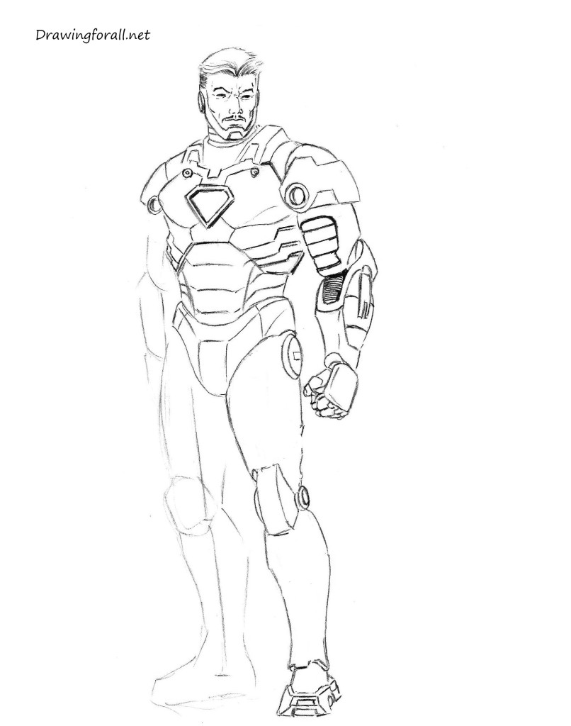 draw iron man step by step easy iron man drawing at getdrawings free download iron step step by draw man