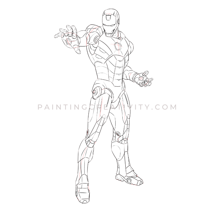 draw iron man step by step easy iron man drawing at getdrawings free download step iron step man by draw