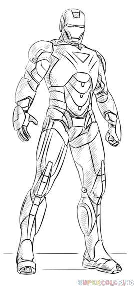 draw iron man step by step how to draw classic iron man drawingforallnet iron step by draw step man
