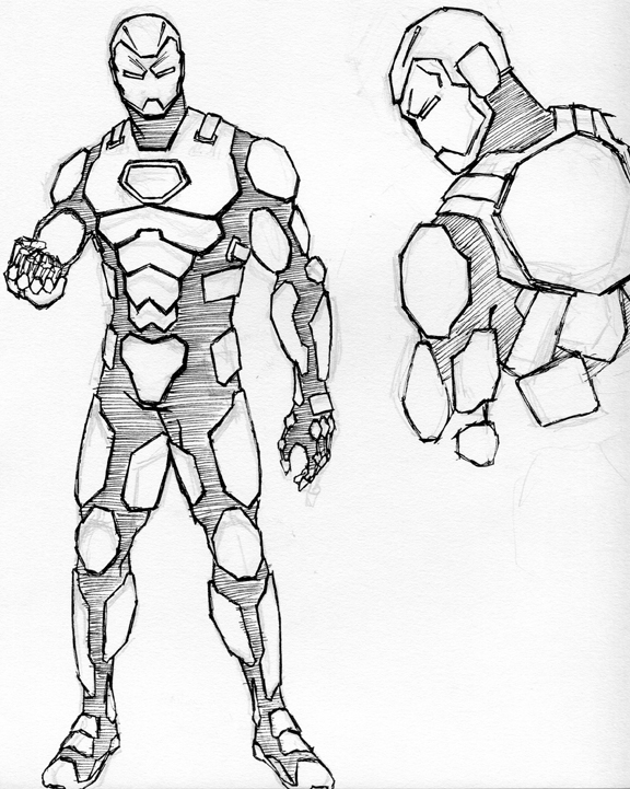 draw iron man step by step how to draw classic iron man drawingforallnet step by draw iron step man