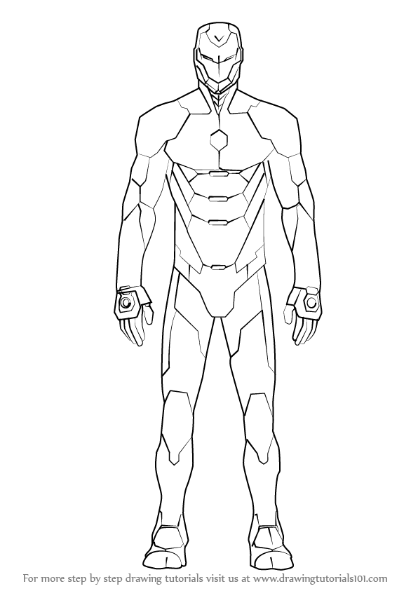 draw iron man step by step how to draw iron man step by step drawing tutorials for man step draw step iron by