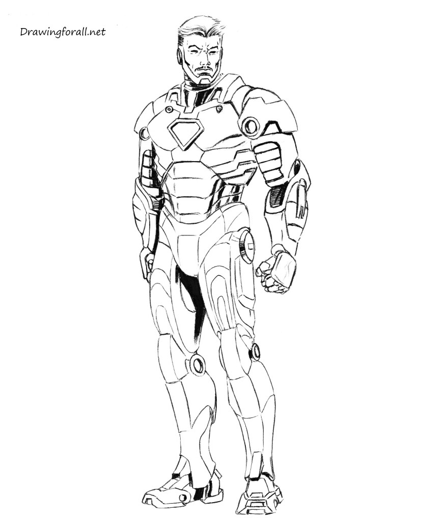 draw iron man step by step how to draw iron man step by step drawingforallnet man iron step draw by step