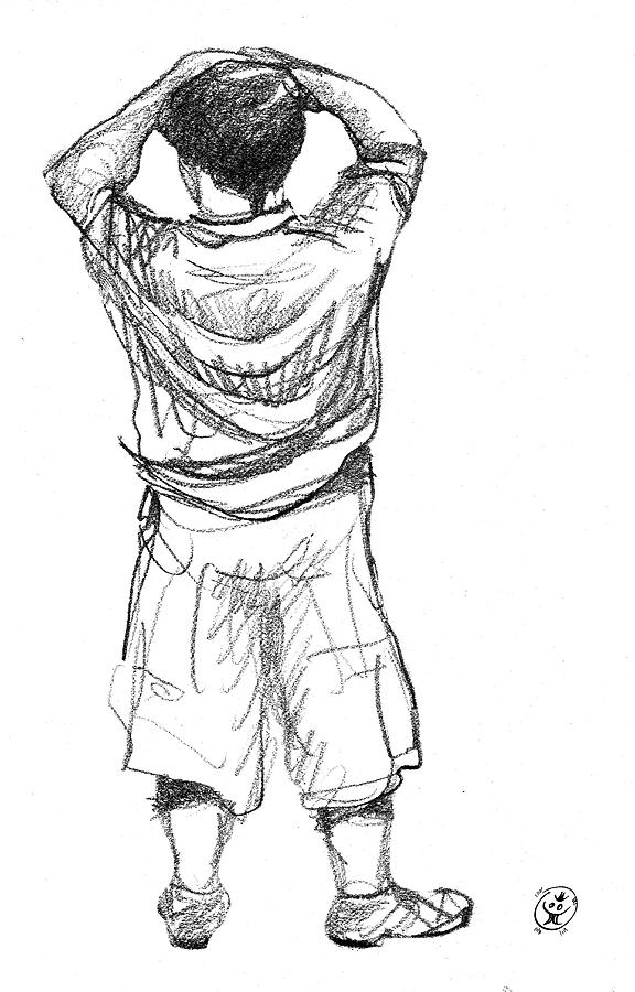drawing boy the little boy from bromont drawing by iti ion vincent danu drawing boy