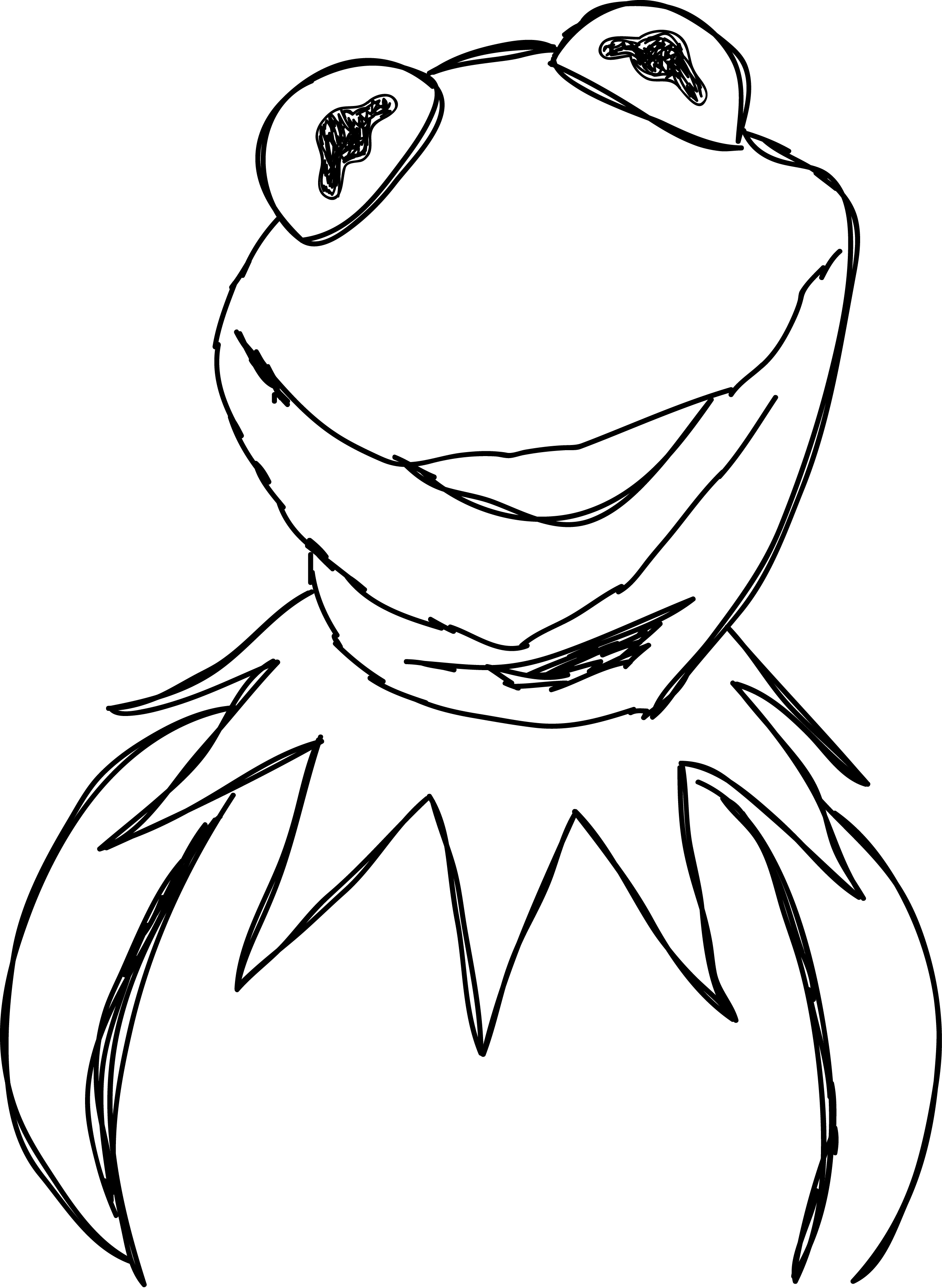 drawing kermit the frog pin on wecoloringpage kermit drawing the frog
