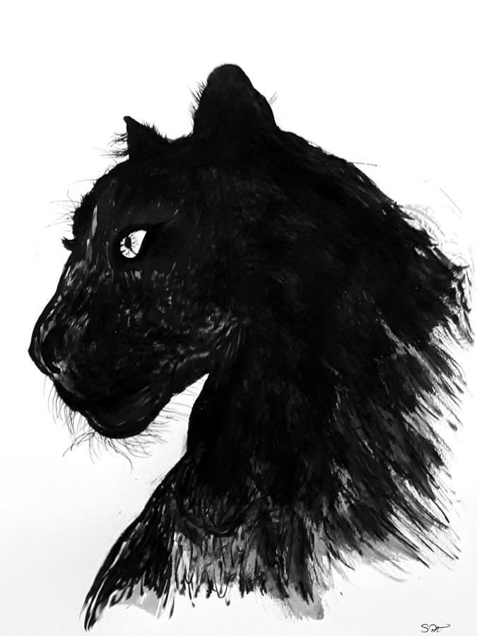 drawing of a black panther black panther drawing by abstract angel artist stephen k of drawing a black panther